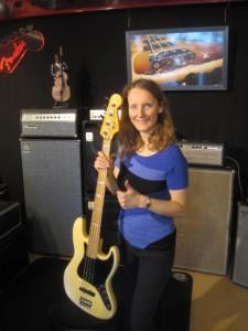 Simone with Fender bass